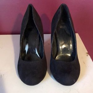 Black Suede high heels size 8